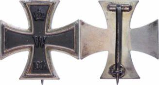 Auszeichnungen Deutscher Staaten bis 1933 Preußen, Eisernes Kreuz 1914 1. Klasse, flache Form,