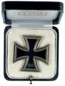 Allg. militärische Auszeichnungen 2. Weltkrieg Eisernes Kreuz 1939 1. Klasse, Kern nicht magnetisch,