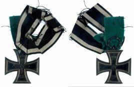 Auszeichnungen Deutscher Staaten bis 1933 Preußen, Eisernes Kreuz 1914 2. Klasse, mit Band,