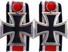"""Allg. militärische Auszeichnungen 2. Weltkrieg Eisernes Kreuz 1939 2. Klasse, im Ring Hersteller """"4"""""""