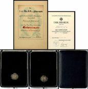 Allg. militärische Auszeichnungen 2. Weltkrieg Eichenlaub zum Ritterkreuz des Eisernen Kreuz 1939,