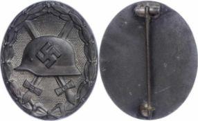 Allg. militärische Auszeichnungen 2. Weltkrieg Verwundetenabzeichen in Silber, massiv, Tombak