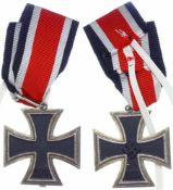 Allg. militärische Auszeichnungen 2. Weltkrieg Eisernes Kreuz 2. Klasse, Ausgabe 1939, Öse um 180