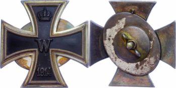 Auszeichnungen Deutscher Staaten bis 1933 Preußen, Eisernes Kreuz 1914 1. Klasse, gewölbte Form, mit