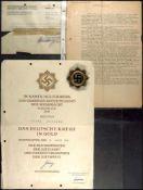 Allg. militärische Auszeichnungen 2. Weltkrieg Deutsches Kreuz in Gold, leichte Ausführung 44,47