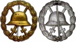 Auszeichnungen Deutsches Reich 1871-1933 Verwundetenabzeichen in Gold, Messing vergoldet, hohl