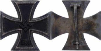 Allg. militärische Auszeichnungen 2. Weltkrieg Eisernes Kreuz 1939 1. Klasse, flach, Nadel mit