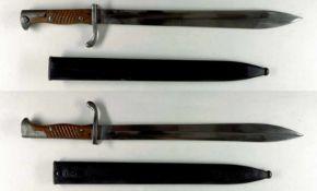 """Blankwaffen Deutschland Preußen, Seitengewehr 98/05 a.A., Klinge mit Hersteller """"C.G. Haenel"""