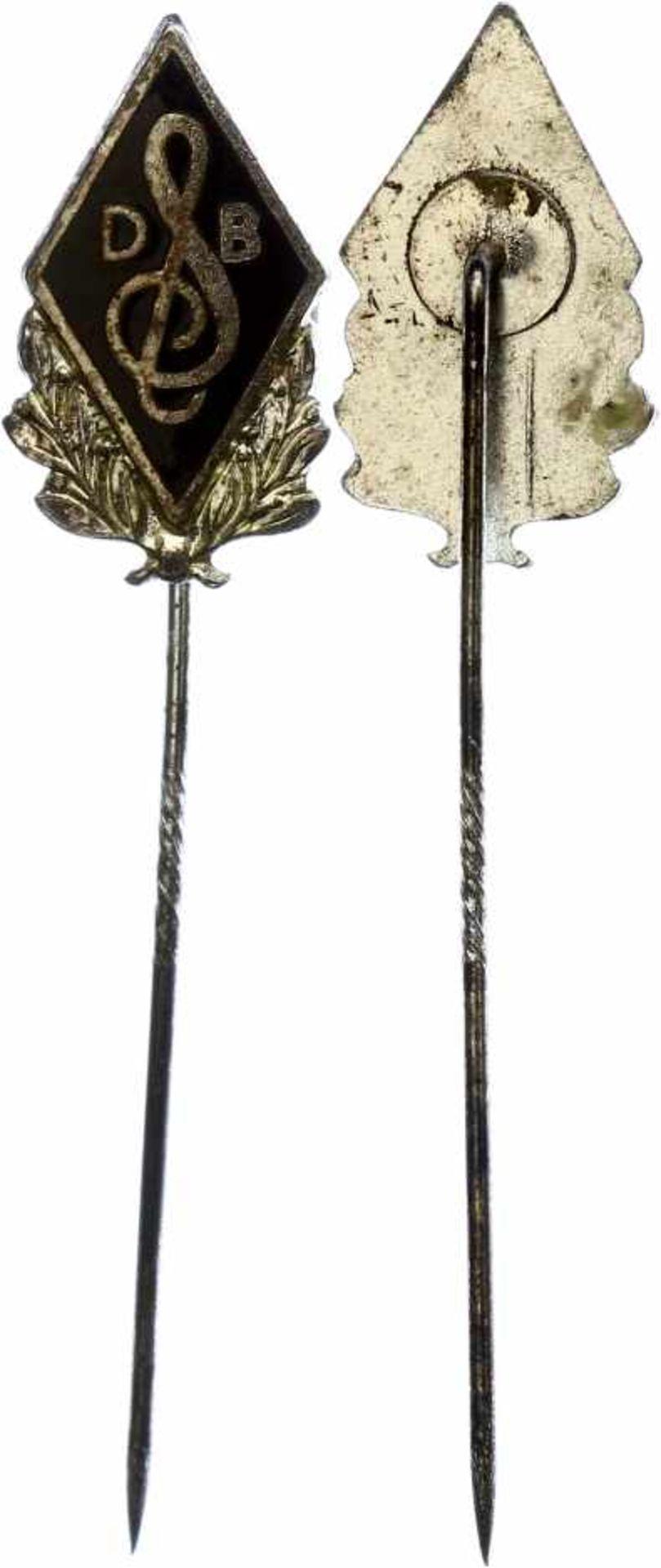 Kleinabzeichen, Mitgliedsnadeln 1871-1945 Deutscher Sängerbund (DSV), Silberne Ehrennadel, 1. Form.,