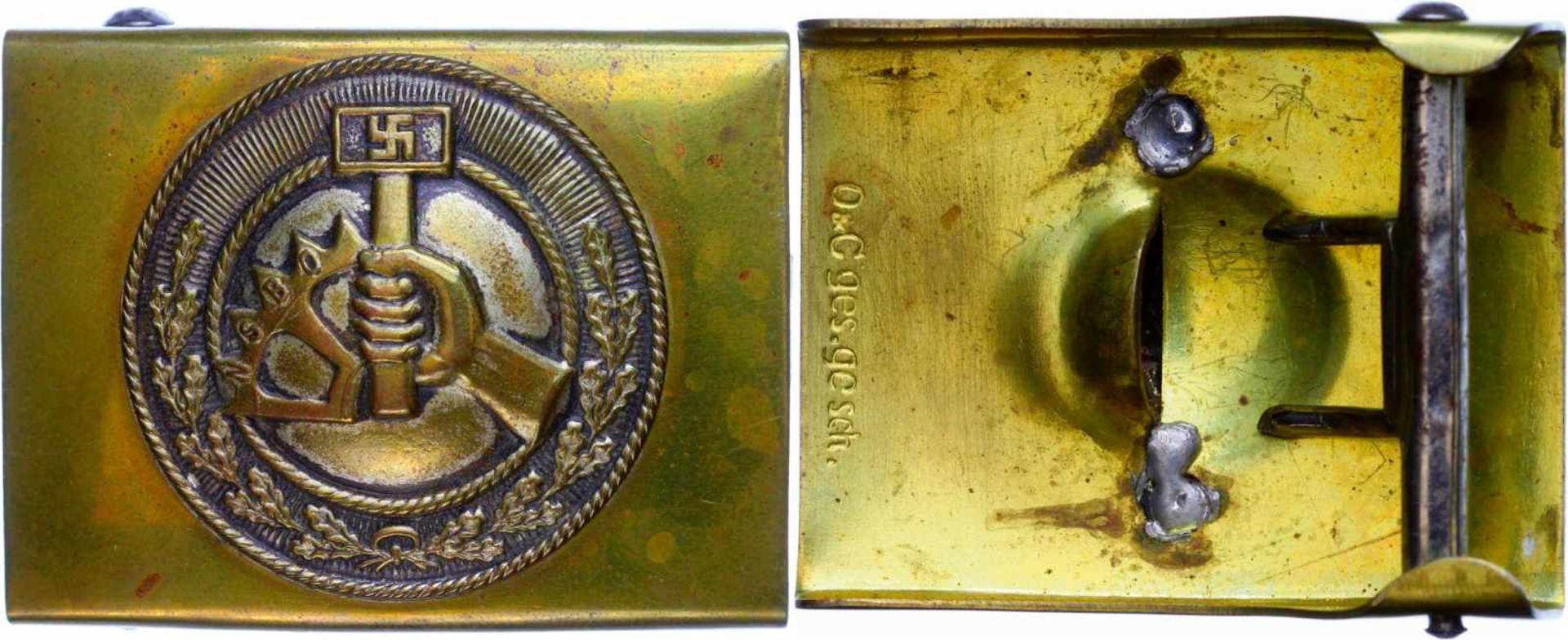 Koppelschlösser und Feldbinden 1870-1945 NSBO (Nationalsozialistische Betriebszellenorganisation),