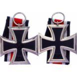 Allg. militärische Auszeichnungen 2. Weltkrieg Eisernes Kreuz 1939, 2. Klasse, mit Band, ungetragen,