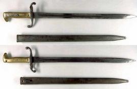 Blankwaffen Deutschland Preußen, Infanterie Seitengewehr M/1871, mit Aufpflanz-Vorrichtung, Klinge