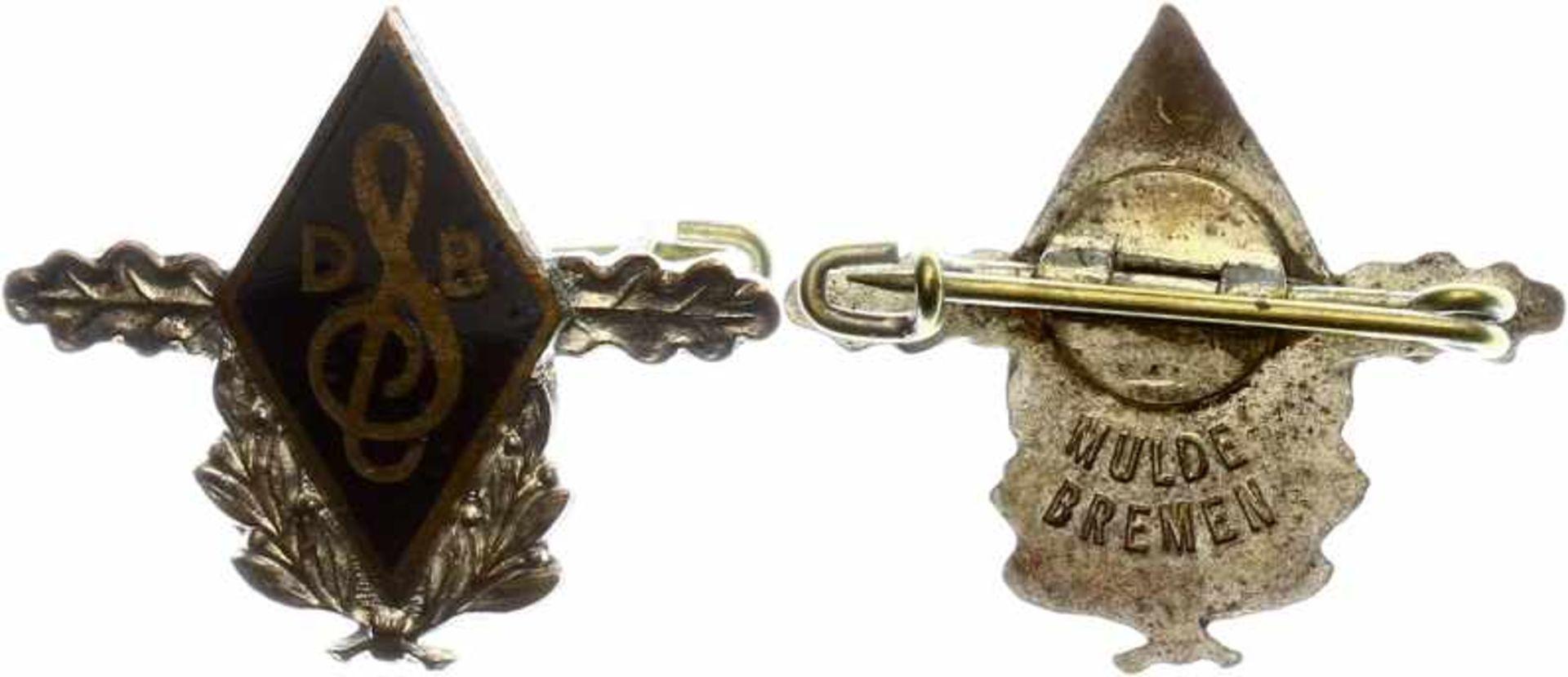 Kleinabzeichen, Mitgliedsnadeln 1871-1945 Deutscher Sängerbund (DSV), Silberne Ehrennadel, 2. Form.,