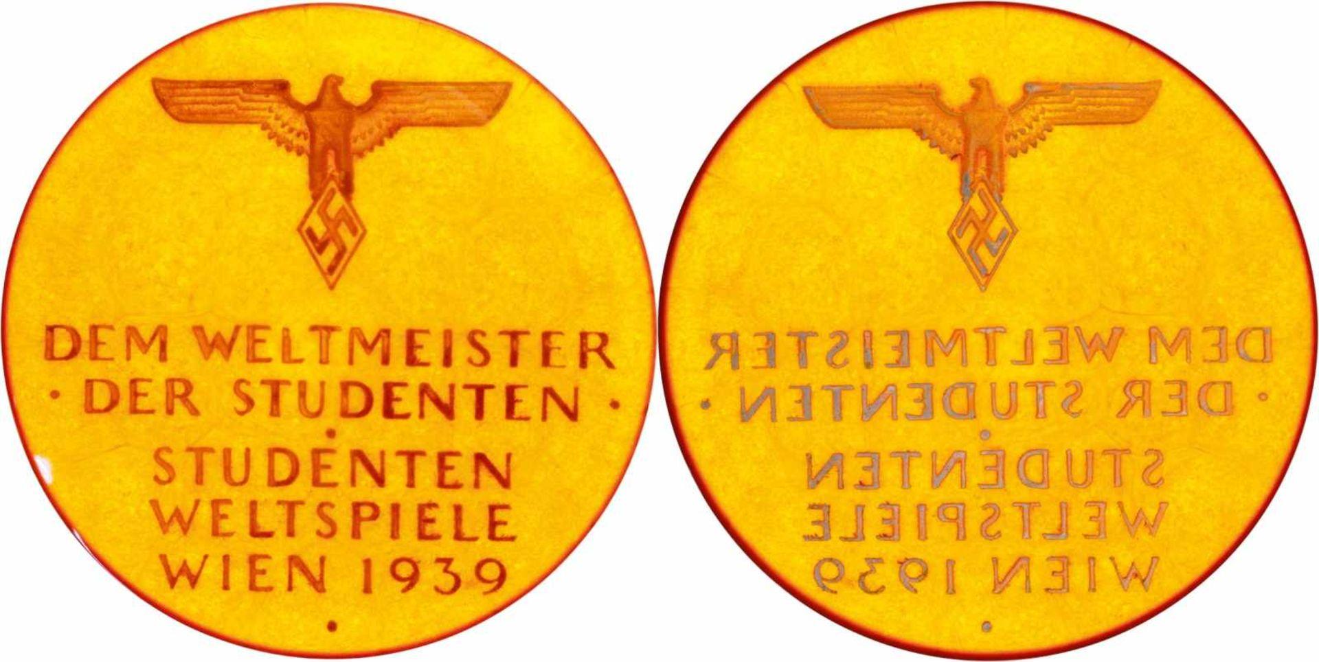 Plaketten, nichttragbare Medaillen und Preise Bernsteinmedaille 1939, Prämie der Studenten-