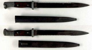 """Blankwaffen Deutschland Seitengewehr 84/98 n.A., mit Sägerücken, Klinge mit Hersteller """"Erfurt"""""""","""