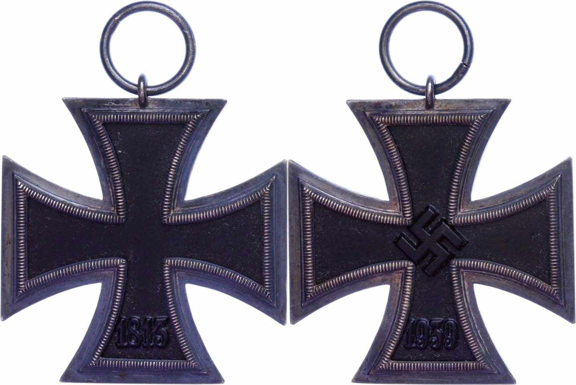 Allg. militärische Auszeichnungen 2. Weltkrieg Eisernes Kreuz 1939, 2. Klasse, geschwärzter