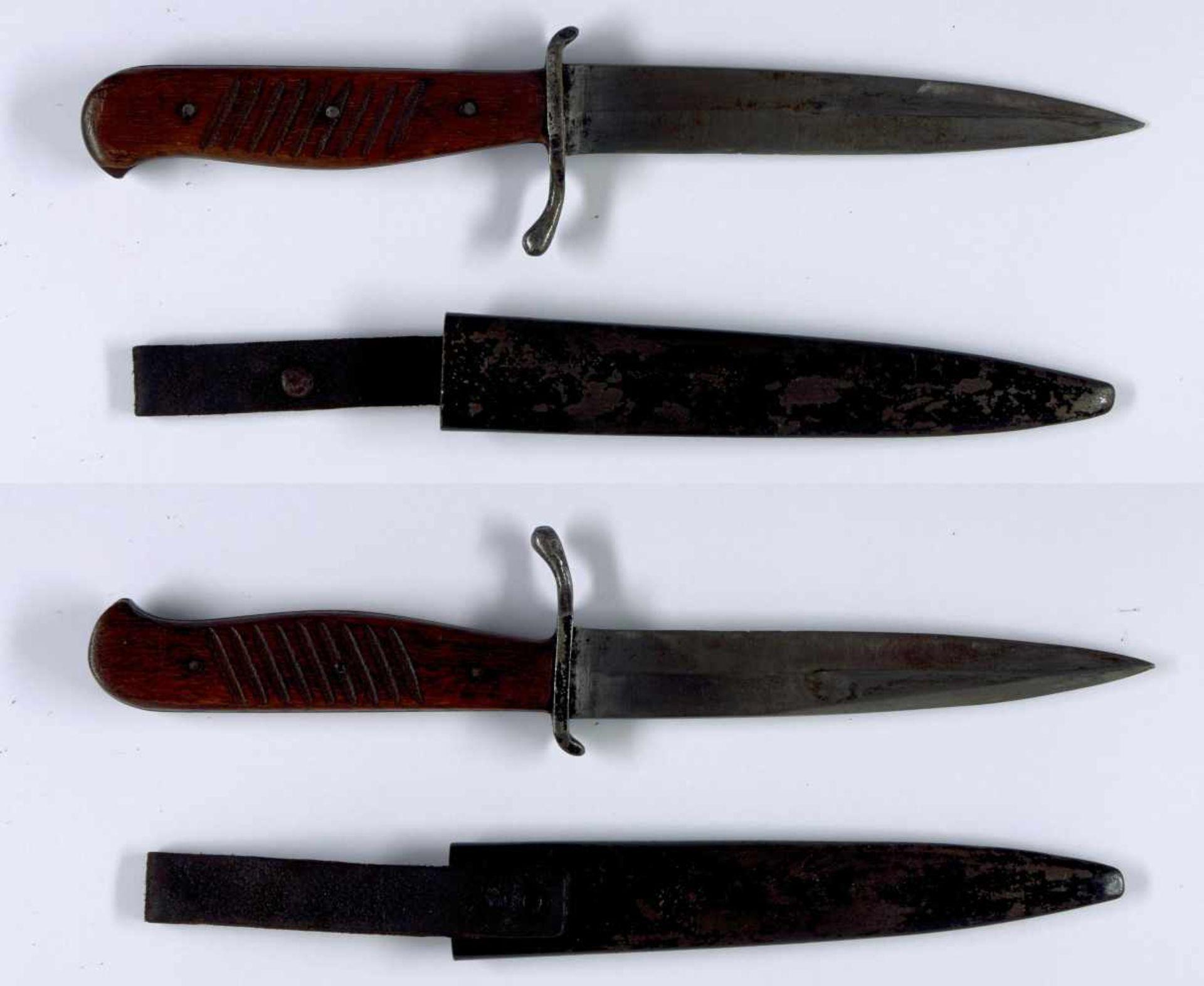 Blankwaffen Deutschland 1. Weltkrieg, Kampfmesser bzw. Grabendolch, einschneidige Standard-Klinge
