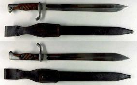 """Blankwaffen Deutschland Bayern, Seitengewehr 98/05 n.A., Kammerstück, Klinge mit Hersteller """"F."""