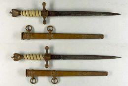 Blankwaffen Deutschland Kriegsmarine, Dolch für Offiziere, beidseitig geätzte Klinge, mit Hersteller