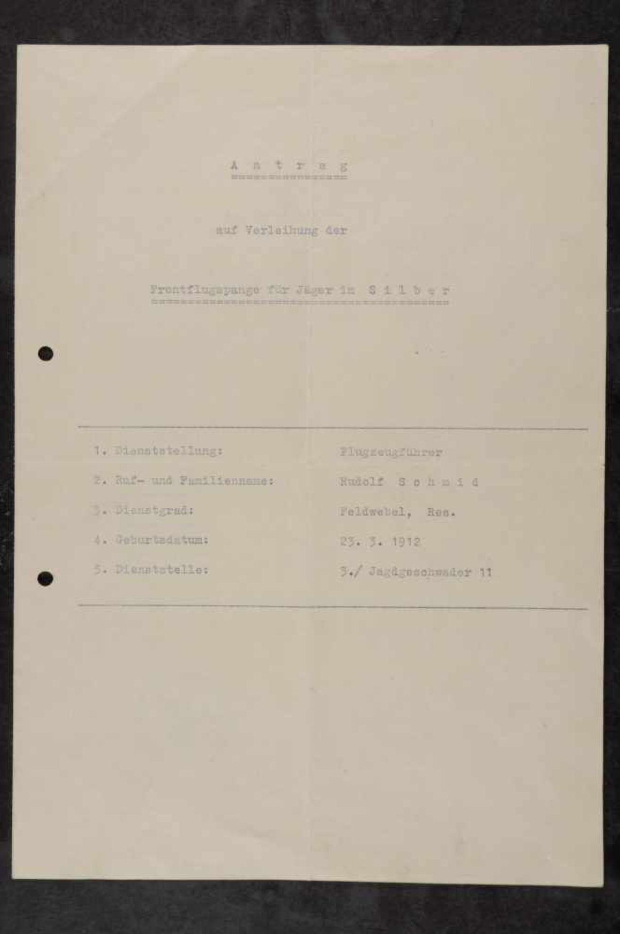 Urkunden, Dokumente und Unterschriften Verleihungsurkunde für einen Leutnant für den Ehrenpokal