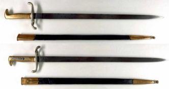 Blankwaffen Deutschland Preußen, Infanterie Seitengewehr M/1871, Eigentumsstück, nicht aufpflanzbar,