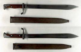 """Blankwaffen Deutschland Preußen, Seitengewehr 98/05 a.A., Klinge mit Hersteller """"R. Stock & Co."""