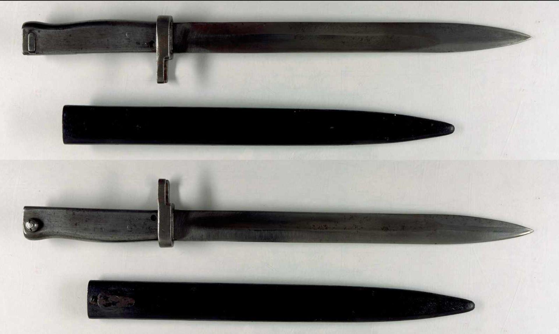 Blankwaffen Deutschland Aushilfsseitengewehr/Ersatzbajonett, Klinge ohne Hersteller, mit