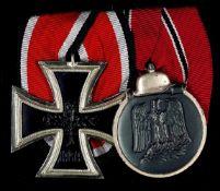 Auszeichnungen nach dem Ordensgesetz 1957 2er Ordensspange mit Eisernes Kreuz 1939 2. Klasse und