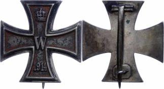 Auszeichnungen Deutscher Staaten bis 1933 Preussen, Eisernes Kreuz 1914, 1. Klasse, flache Form,