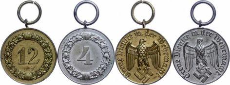 Auszeichnungen Wehrmacht Heer 2. Weltkrieg Wehmacht, Dienstauszeichnung 3. Klasse für 12 Dienstjahre