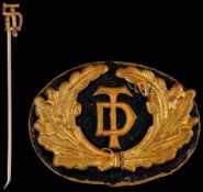 Kleinabzeichen, Mitgliedsnadeln 1871-1945 Deutsche Turnerschaft (DT), Mitgliedsabzeichen 3. Form,