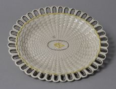 Ovale Platte, wohl Wedgwood, Anf. 19. Jh.