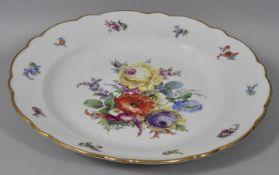 Große runde Platte, Meissen, C. Teichert, um 1880