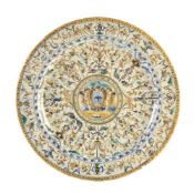 A large Italian maiolica charger