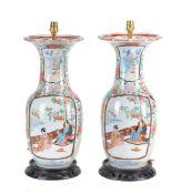 A pair of Japanese Arita vases