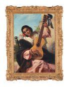 Continental School (19th century)The Guitarist