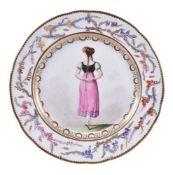 A Coalport porcelain dessert plate