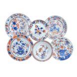 Six various Chinese Imari dishes