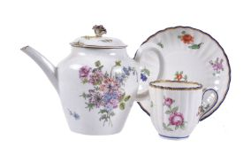 A Chelsea polychrome teapot and cover