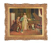 Attributed to Emmanuel Costa (French 1833-1921)A Musical Flirtation