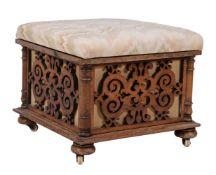 ϒ A Victorian rosewood ottoman