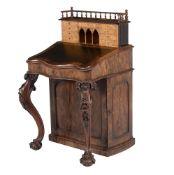 ϒ A Victorian rosewood Davenport