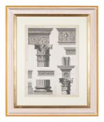 Architecture. Adam (Robert & James, after), a group of five bookplate engravings of architectural su