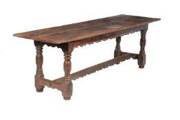 † An oak refectory table