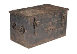 A Continental iron mounted strong box