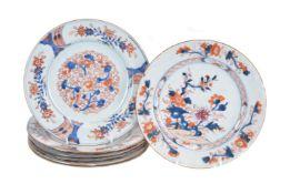 A set of six Chinese Imari plates