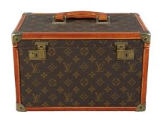 Louis Vuitton, a coated monogrammed canvas travelling case