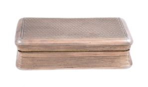 A late George III silver gilt rectangular snuff box by William Elliott