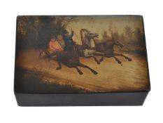 A Russian lacquer box by V. O. Vishnyakov