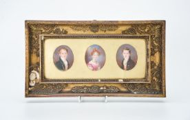 ϒ Edward William Thomson (1770-1847), three portraits of two brothers and their sister